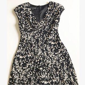 Jones Wear Dress Silky Black Floral